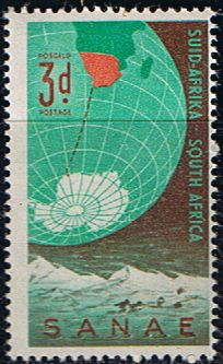South Africa 1959 Antarctic Expedition Fine Mint SG 169 Scott 219 Other South African Stamps HERE Union Of South Africa, South Afrika, Simply Stamps, Mail Art, Stamp Collecting, Postage Stamps, Childhood Memories, Planets, Maps