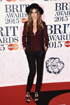 BRIT Awards 2015: Cara Delevingne - February 25, 2015