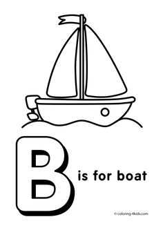Letter B coloring page - alphabet coloring pages, alphabet activities, alphabet letters, printable, letter worksheets