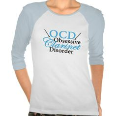 Cute and funny blue clarinet t-shirt. Obsessive Clarinet Disorder, just a little woodwind instrument humor!
