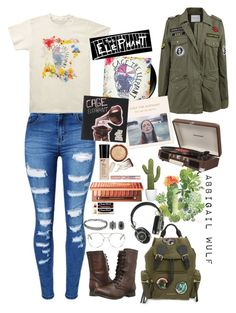 """Untitled #57"" by abbigailwulf28 ❤ liked on Polyvore featuring Velvet by Graham & Spencer, Forever 21, WithChic, Steve Madden, Chloé, Burberry, Master & Dynamic, Crosley, New Look and Urban Decay"