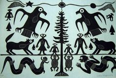 Anishnawbe Miinigozwin by Ahmoo Angeconeb (b: Lac Seul First Nation artist and print maker; Hawk Feathers, Eagle Feathers, Woodlands School, Contemporary Art Forms, Woodland Indians, White Cedar, Native American Fashion, Indigenous Art, Big Bird
