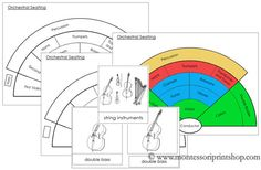 Orchestral Instruments and Seating Chart - Printable Montessori Music Materials