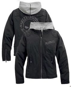 Harley-Davidson® Women's Jacket, Skull 3-in-1, Black. 175$