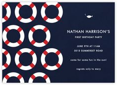 """All Cards: """"nautical"""" - Paperless Post Nautical Invitations, Nautical Cards, Nautical Theme, Invitation Design, Baby Shower Invitations, Invites, Paperless Post, Boy Birthday Parties, 3rd Birthday"""