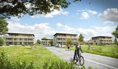 Perspective 3D pour la commercialisation de 5 immeubles de logements