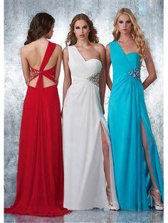 Alluring Chiffon One Shoulder Neckline Floor-length A-line Evening Dress