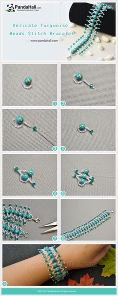 Delicate Turquoise Beads Stitch Bracelet