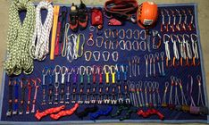 My complete collection of all my climbing gear. I'm so ready for climbing weather.