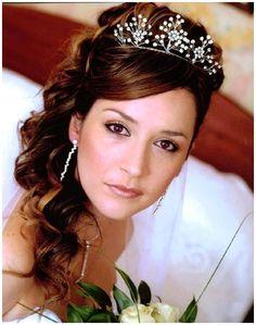 half up half down bridal hair with tiara   Half Up Half Down Wedding Hairstyles For Black Women - Wedding ...