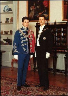Danish Royal Family - Queen Margrethe, Prince Consort Henrik, Crown Prince Frederik and Prince Joachim. Princess Marie Of Denmark, Princess Alexandra, Crown Princess Mary, Denmark Royal Family, Danish Royal Family, Prince Héritier, Prince And Princess, Casa Real, Christian Ix