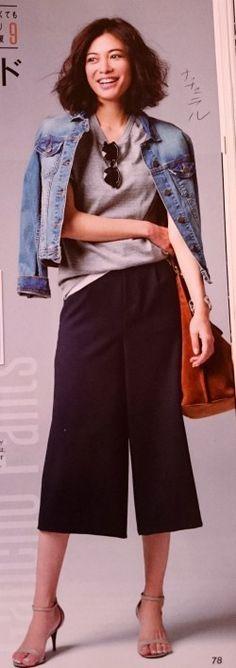 骨格タイプ・ナチュラルさんのGジャンコーデ☆   札幌骨格診断 毎日着る服をもっとお洒落に!