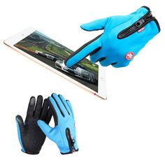 Sale 25% (3.9$) - Unisex Ski Gloves Waterproof Touch Screen Sport Gloves Warm Riding Glove Motorcycle Glove