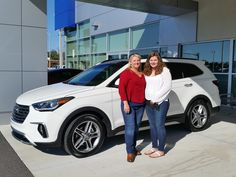 """Elizabeth Gau bought a brand new 2016 Hyundai Santa Fe with the help of salesman Kenny Swartz! """"Kenny went the extra mile to find the car that I wanted and he was very pleasant!"""" Thank you Ms. Gau for your business! We hope that you are enjoying your new Hyundai and please; if there is anything that we can do, don't hesitate to ask… We are here to help! #LakelandAutomall #LakelandHyundai #2016SantaFe #HyundaiSantaFe #Hyundai"""