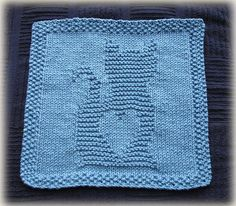 Ravelry: Kitty Love Washcloth pattern by Cheryl Lacey
