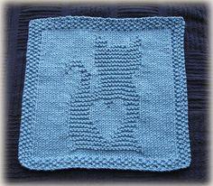 Ravelry: Kitty Love Washcloth pattern by Cheryl Lacey