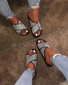 Look around opposite sex event sandals, good water shoes, & more built for comfort & toughness. Bling Sandals, Shoes Flats Sandals, Cute Sandals, Cute Shoes, Me Too Shoes, Heels, Fashion Slippers, Fashion Sandals, Sock Shoes