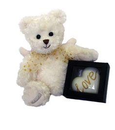 Janusz is a big angel Teddy Bear with soft little wings on his back.  #teddy #teddybear #sendateddy #gift #toy