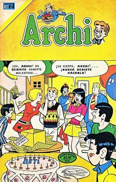 ARCHI - AÑO XVIII - Nº571 Archie Comic Books, Old Comic Books, Archie Comics, Comic Book Covers, Comic Book Characters, Comic Character, Old Comics, Comics Girls, Vintage Comics