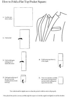 How to Fold a Pocket Square--Folding Instructions