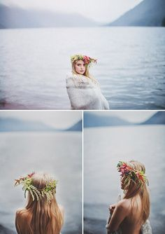 organic, romantic floral hair wreaths by McKenzie Powell Floral and Event Design - photo by Ryan Flynn Photography | via junebugweddings.com
