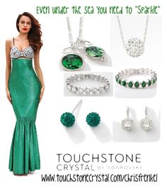 """Even under the sea you need to sparkle"" by christen-olnhausen-frenkel on Polyvore featuring Touchstone Crystal and White Ice"