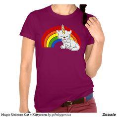 Magic Unicorn Cat = Kittycorn Tees