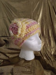 ff59f40862c Handmade Crochet Women s Beanie hat w  flowers  fashion  clothing  shoes   accessories