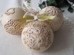 """Купить Новогодние шары """"Кружева-3"""" комплект из 3 штук - новогодний шар, новогодний шарик"""