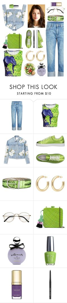 """Saturday 💟"" by pulseofthematter ❤ liked on Polyvore featuring Brunello Cucinelli, WithChic, Rebecca Taylor, Bagatt, B-Low the Belt, Kenneth Jay Lane, Serpui, Kate Spade, OPI and Dolce&Gabbana"
