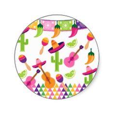 Resultado de imagen para Pegatinas para fiesta mexicana