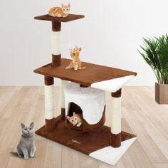 Kissan raapimispuu 70cm, 59,95€. Eikö kotonasi ole tilaa isolle kissan raapimapuulle? Tämä kissan raapimapuu soveltuu pienempäänkin asuntoon tai kaveriksi isommalle raapimapuulle. Raapimapuusta löytyy korkeampi tähystystaso kissalle, iso kansitaso sekä luola. Ilmainen toimitus! #raapimispuu #kissanraapimapuu