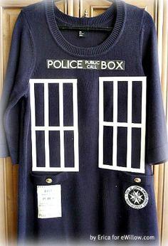 DIY Dr. Who TARDIS costume.  So easy to make!  #halloween #costumes #diy #drwho