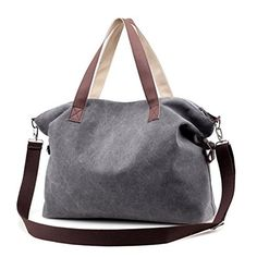 New Trending Cross Body Bags: Sanxiner Top Handle Handbag Tote Bag Canvas Crossbody Bags for Women (Gray). Sanxiner Top Handle Handbag Tote Bag Canvas Crossbody Bags for Women (Gray)  Special Offer: $19.99  166 Reviews Features – Perfect for everyday wear and travel,spacious and economically price. . – Simple but fashion.Suitable for work,shopping,outdoor sports and travel....