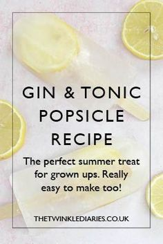 Ever wanted to make gin and tonic popsicles? This ice lolly recipe is so simple and a winner with all the grown ups in our family.
