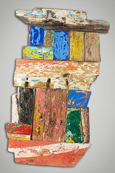 Artwork from recycled timber
