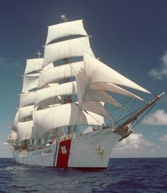 One of the most beautiful tall ships in the world, the barque Eagle tours the world with U.S. Coast Guard cadets aboard. © 2014 USCG