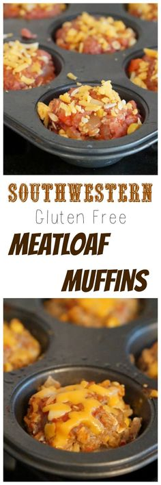 I love these freezer friendly & gluten free Southwestern meatloaf muffins! Make a batch today- you'll love them!