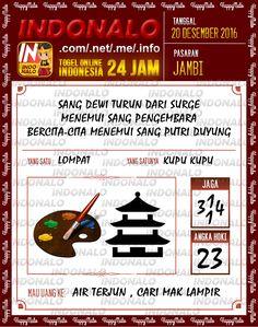 Undian Lotre 4D Togel Wap Online Live Draw 4D Indonalo Jambi 20 Desember 2016