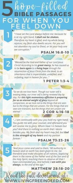 Here are 5 passages to meditate on during downcast days - to savor who Jesus is and soak in priceless hope! Remembering the Gospel brings the greatest joy.   Bible Verses for Hope   Verses for When You're Sad   Bible Verses To Encourage   Gospel Bible Verses   Scriptures for Sad Days   Bible Verses for When I'm Tired Bible Verses Quotes, Bible Scriptures, Gospel Bible, Healing Scriptures, Christian Life, Christian Quotes, Christian Women, Christian Living, Feeling Down