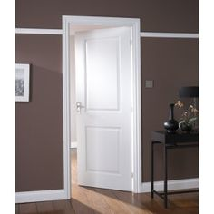 Interior 2- Panel Door, Jeld-Wen White Moulded Cambridge Smooth