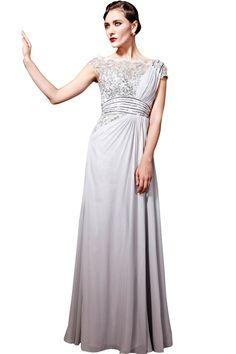 Latte coloured chiffon dress | Wedding Dress | Pinterest | Latte ...