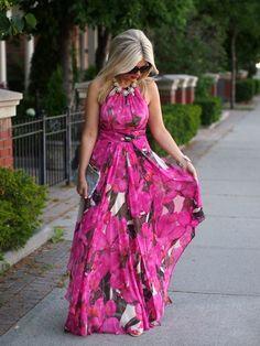 Summer Beach Wedding Guest Dresses With Fl Chiffon Fabric