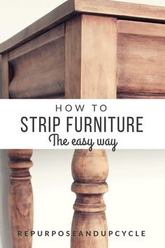 The Easy Way to Strip furniture of Polyurethane, Paint, and Stain with Minimal Sanding by coating your furniture piece with saran wrap. 12 Easy Rustic Furniture Projects To Update A Apartment Refurbished Furniture, Repurposed Furniture, Rustic Furniture, Furniture Makeover, Furniture Design, Cheap Furniture, Furniture Stores, Furniture Nyc, Furniture Ideas