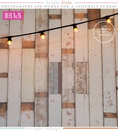 Sunday's Bright Links No. 96: Strung Lights