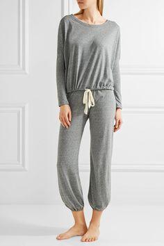 Eberjey - Heather Jersey Pajama Pants - Gray - medium