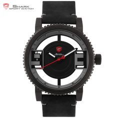 Cheap watches ultra, Buy Quality gift gifts directly from China watch watch Suppliers: Megamouth Shark Sport Watch Ultra 3 D Transparent Hollow Dial Gearwheel Bezel Leather Man Military Sport Wristwatch Gift / Simple Watches, Cool Watches, Watches For Men, Wrist Watches, Casual Watches, Shark Watches, Army Watches, Megamouth Shark, Watch Gift Box