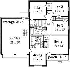 Tudor Charm - 5597BR floor plan - Main Level