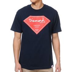 """Add some shine to your wardrobe this summer in custom style with the Diamond Supply Certified Lifer tee shirt for guys in the navy colorway. This standard fit short sleeve tee shirt features a crew neck collar, a durable and comfortable cotton construction, a custom logo tag at the bottom front hem and a white and red custom Diamond Supply Co. """"Certified Lifer"""" front graphic. The Certified Lifer tee shirt from Diamond Supply Co. was made for the streets and will have you looking fresh in…"""