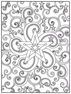 Out of This World Stained Glass Coloring Book, Dover Publications.